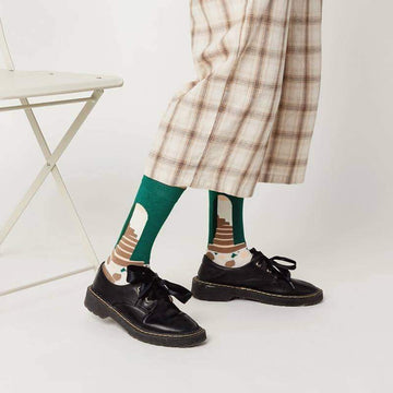 [leggycozy] Korean Fashionable Style Happy Breathable Cotton Socks