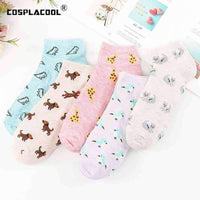 leggycozy socks [leggycozy] Korean Style Cute Animal Shallow Mouth Ankle Socks