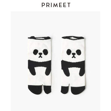 [leggycozy] Korean Style Kawaii 3D Cartoon Panda Toe Ankle Socks
