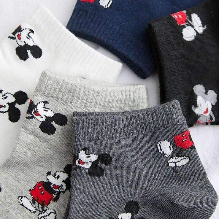 [leggycozy] Korean Style Mickey Mouse Print Socks