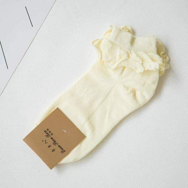 leggycozy socks [leggycozy] Lace Ruffle RetroFrilly Princess Socks