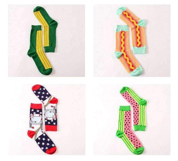 leggycozy socks [leggycozy] Novelty Happy Pure Cotton Funny Casual Socks