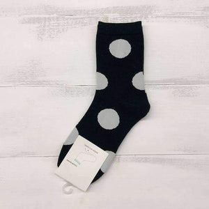 Open image in slideshow, [leggycozy] Retro Cute Polka Dot Solid Cotton Socks