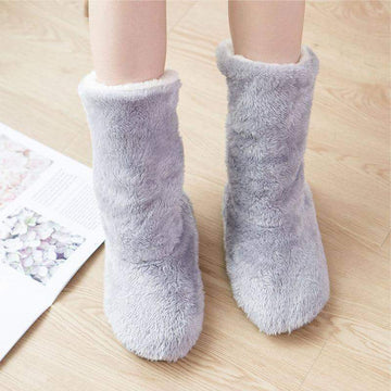 [leggycozy] Thick Fleece Lined Slipper Boots Home Socks