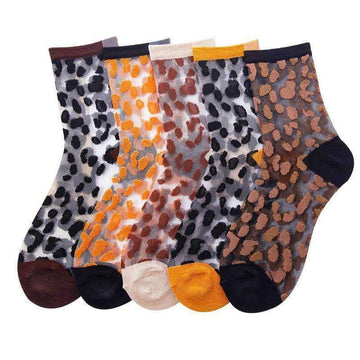 [leggycozy] Thin Breathable Leopard Pattern 10 Colors Socks