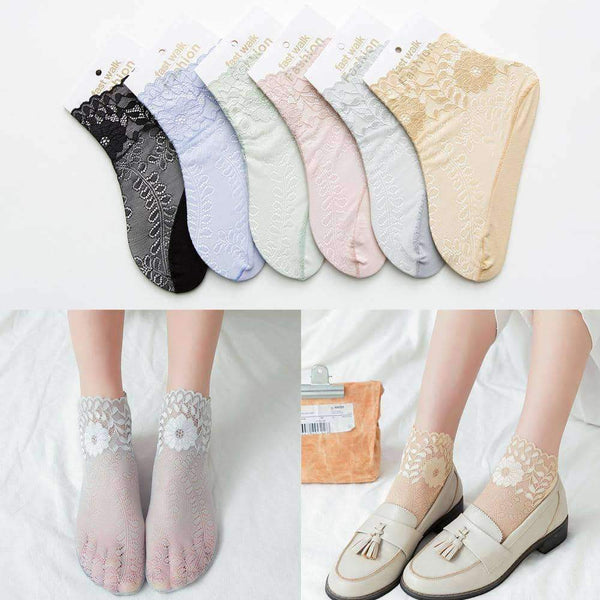 leggycozy socks [leggycozy] Ultra-thin Solid Novelty Ankle Sheer Socks