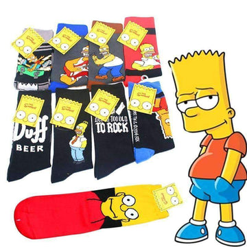 [leggycozy] Unisex Simpson Family Funny Cartoon Cotton Socks