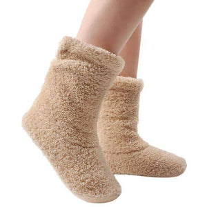 Open image in slideshow, leggycozy socks [leggycozy] Winter Warm Coral Fleece Indoor Floor Socks