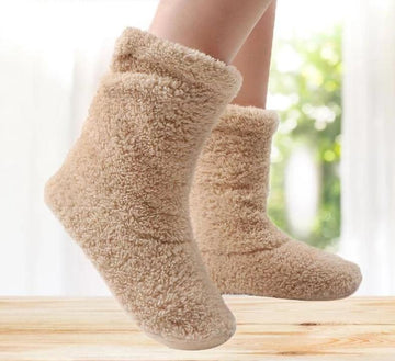 [leggycozy] Winter Warm Coral Fleece Indoor Floor Socks