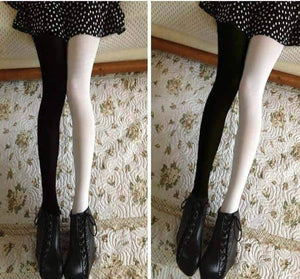 Open image in slideshow, [leggycozy] Elastic Cute Two Solid Color Stockings