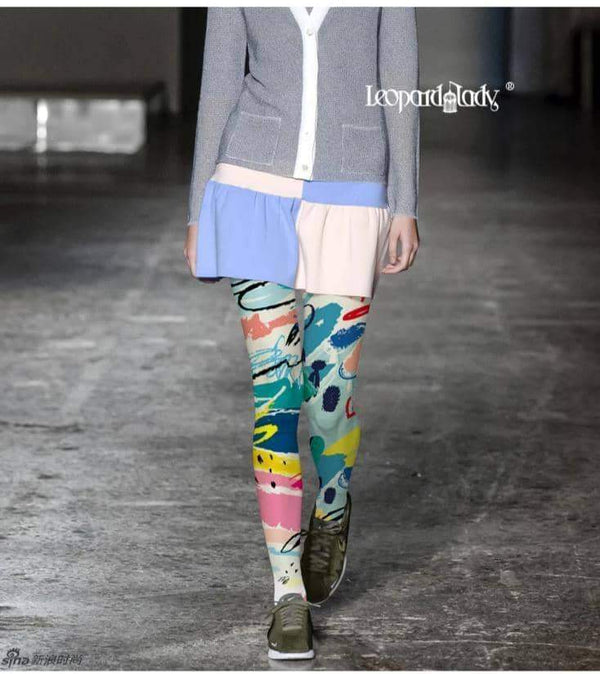leggycozy Stocking [leggycozy] High Quality Graffiti Print Pantyhose Tights Stockings