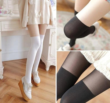 [leggycozy] High Quality Japanese Style All-match Trendy Solid Soft Stockings
