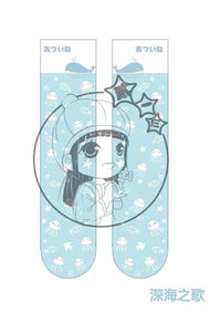 leggycozy Stocking [leggycozy] Japanese Anime The Deep Sea Jellyfish Printing Knee High Stockings