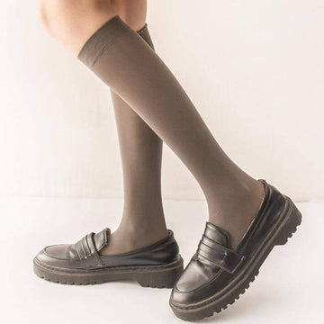[leggycozy] Japanese Kawaii College Style Velvet Candy Color Knee Stockings