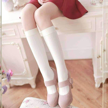 [leggycozy] Japanese Student Style Cute Knee High Stockings