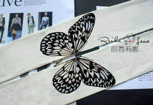 Open image in slideshow, [leggycozy] Japanese Style Elegant Butterfly Print Pantyhose Stockings