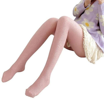 [leggycozy] Lovely Glitter Floral Pattern Thick Pantyhose Stockings