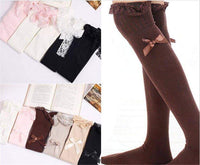 leggycozy Stocking [leggycozy] Lovely Laced Bow Knot Sheer Thigh High Stockings