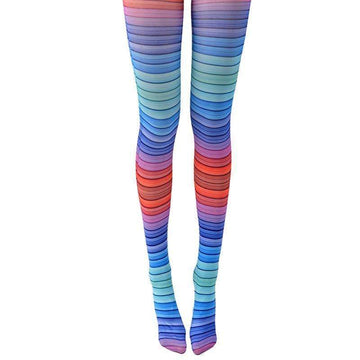 [leggycozy] Premium Multiple Color Striped Pantyhose Tights Stockings