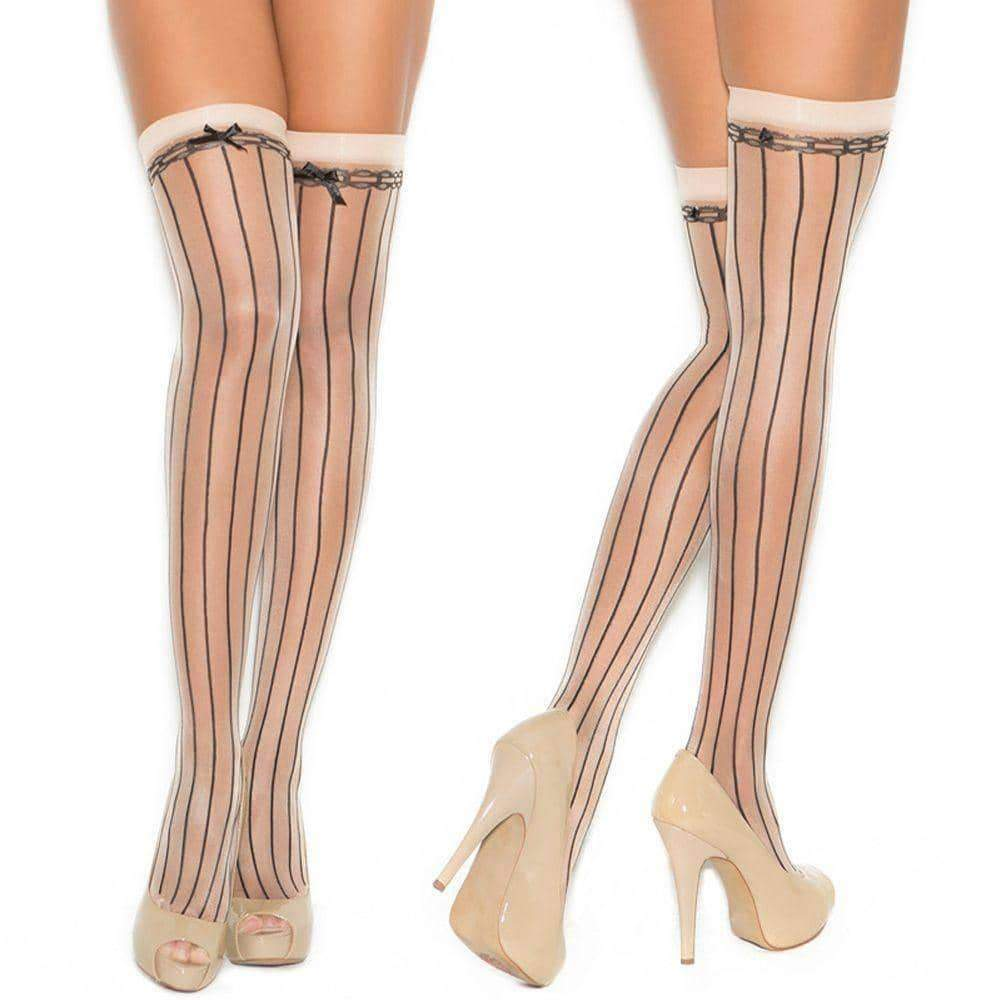 leggycozy Stocking [leggycozy] Sexy Bow Knot Stripes Thigh High Over The Knee Stockings
