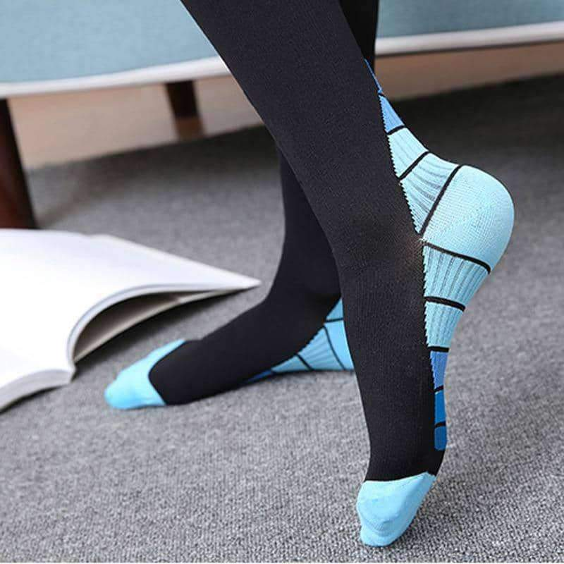leggycozy Stocking [leggycozy] Unisex Pressure Compression Knee High Nylon Stockings