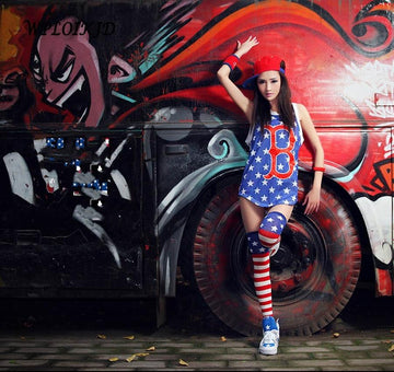 [leggycozy] New Stripe American Flag Pattern Hip Hop Stockings