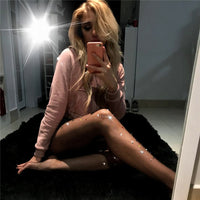 [leggycozy] Thick Shiny Color Crystal Rhinestone Diamond Sexy Fishnet Stockings