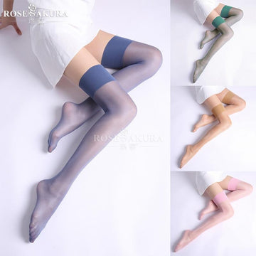 [leggycozy] (2pairs/lot) Elegant 12D Sheer Thigh High Shinny Silk Stockings
