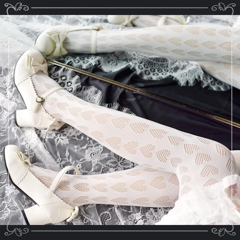 [leggycozy] Japanese Sweet Punk Lovely Mesh Silk Pantyhose Stockings leggycozy