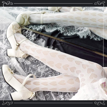 [leggycozy] Japanese Sweet Punk Lovely Mesh Silk Pantyhose Stockings
