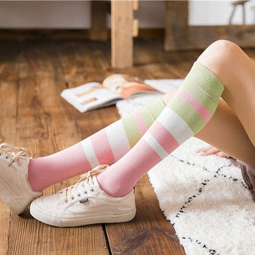 [leggycozy] Harajuku Stripe Knee Length Socks