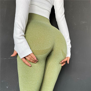 [leggycozy] Solid Color Fitness High Waist Seamless Hip-Up Leggings
