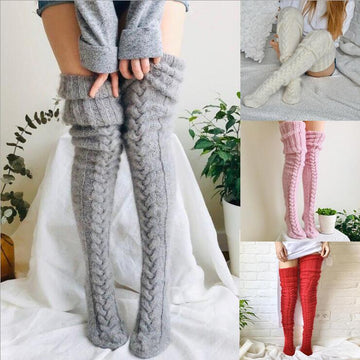 [leggycozy] Korean Lovely Winter Knitted Thigh High Warm Socks