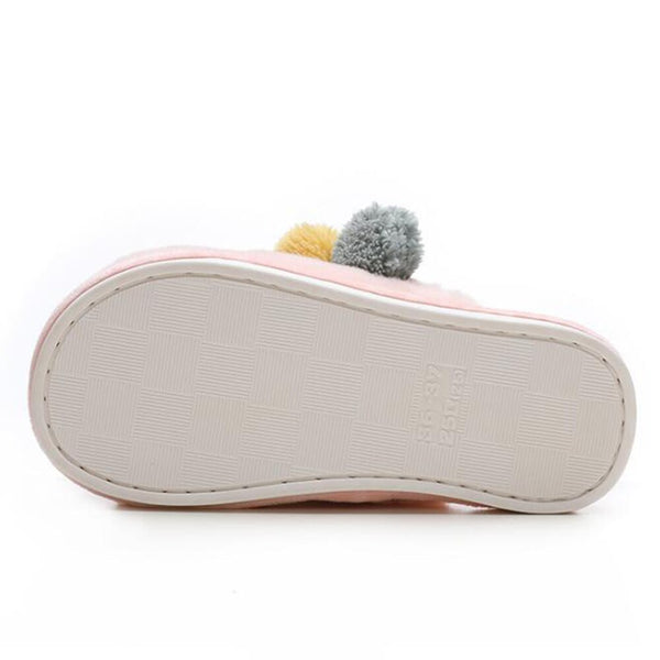 [leggycozy] Kawaii Fashion Lovely Fluffy Warm Cotton Indoor Slippers