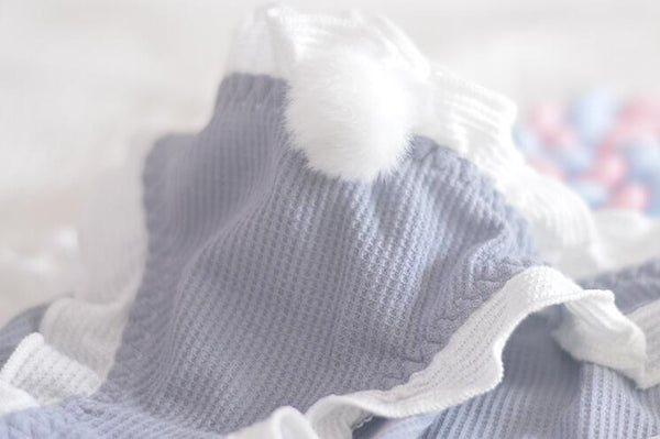 [leggycozy] Korean Kawaii Cute Cotton Ball White Ruffle Panties