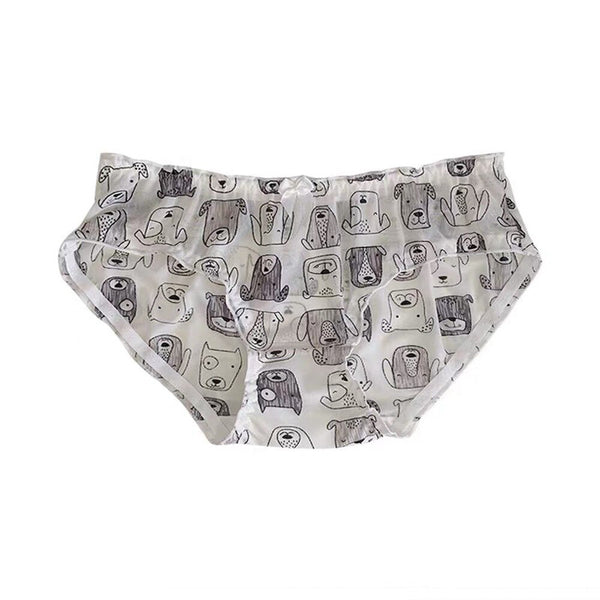 [leggycozy] Kawaii Cute Funny Cartoon Animal Fruit Pattern Bowknot Chiffon Panties