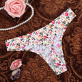 [leggycozy] Kawaii Floral Leopard Pattern Ultra Thin Seamless Thongs Panties