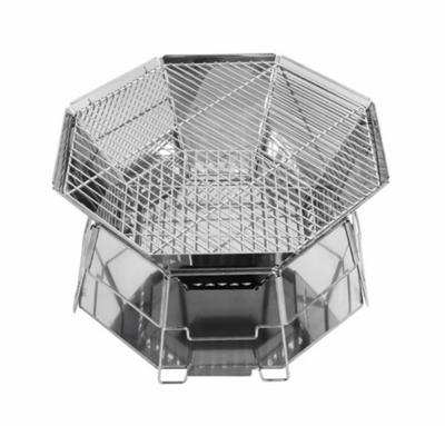Wayfarer Foldable Grill & Fire Pit (Ship from Europe Warehouse)
