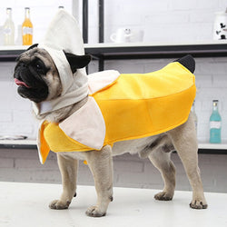 Funny Furry and Cute Banana Costume For Small Dogs