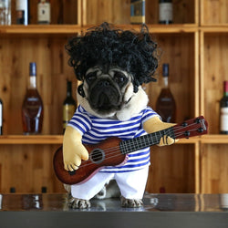 Super Cute Guitar Player Costume for Small Dogs