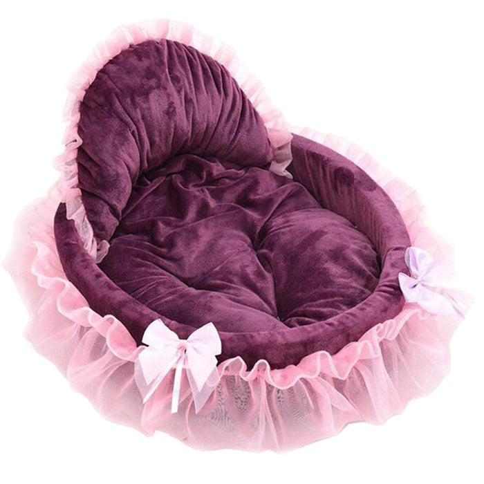 Cute Lace Pet Beds Princess Cat Dog Pet Beds House Soft Warm Pet Bed Size Small