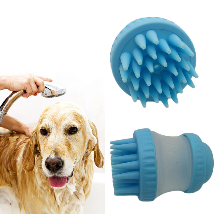 Pet Bath and Massage Brush Pet Hair Grooming Brush Dog Shedding Bath Brush for Dogs and Cats Bathing