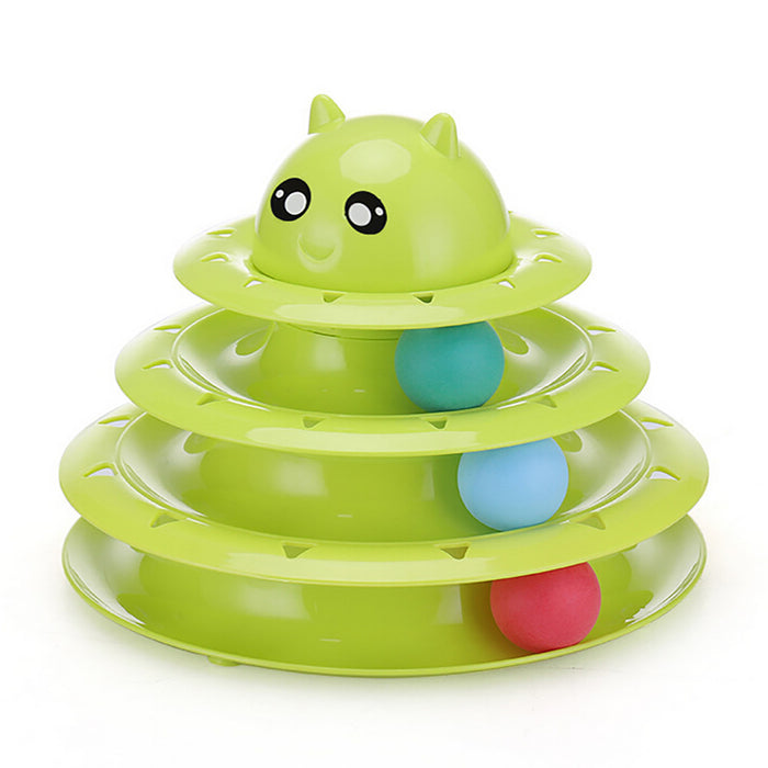 Three Layers Pet Toys Intelligence Crazy Play Tray Cat Play
