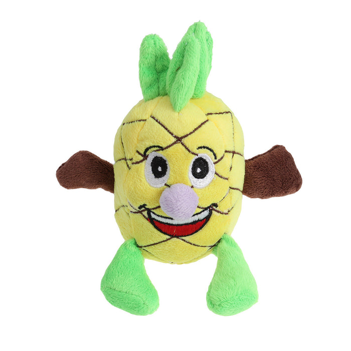 Dog Chew Toy Sound Plush Pet Puppy Toys Squeaky Pineapple Doll Shape Toys Soft Pets Bite Chewing Puppy Dog Toy