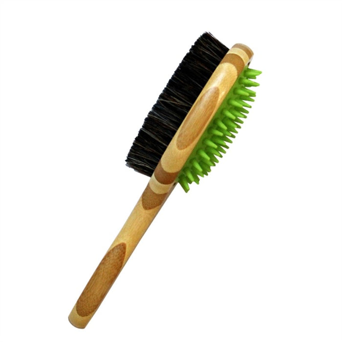 Dog Grooming Brush Pet Dog Pin Bristle Brush for Long and Short Hair Double Sided Pet Brush for Cat Dog Bath and Massage