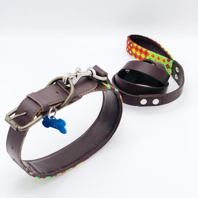 AMOR HANDMADE LEASH AND COLLAR