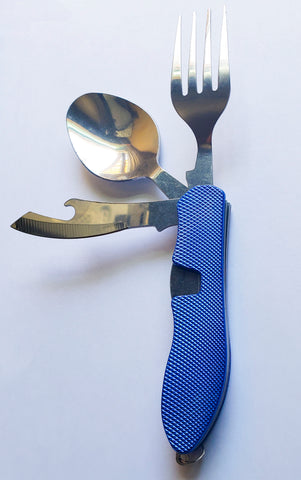 Image of Outdoor Tableware 4 in 1  (Fork/Spoon/Knife/Bottle Opener) Ideal for Camping - Alpha Four
