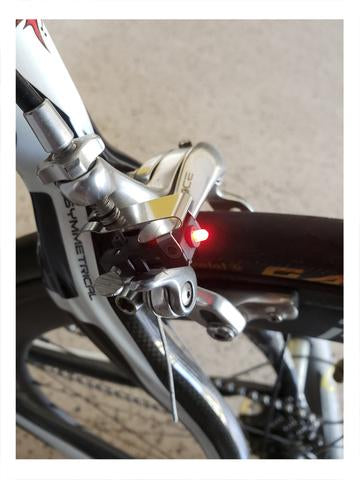 Image of Unique and Small Bicycle Brake light.   Bright LED wit long lasting battery - Alpha Four