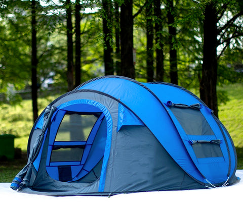 3-4 Person Automatic Quick Open Pop Up Camping Tent