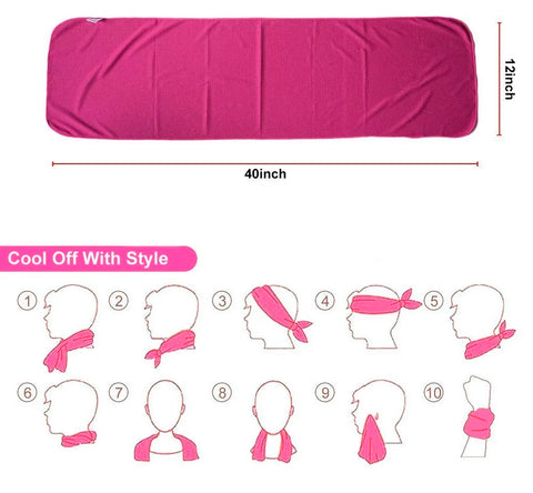 Image of Microfibre Cool Towel for Gym, Outdoors, Hiking and Running